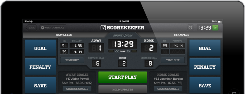 Hockey Scorekeeper for iPad