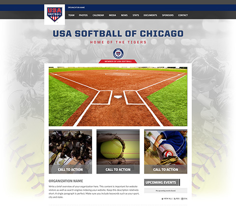 USA Softball Club Site Snapshot