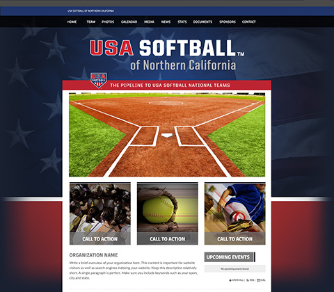 USA Softball State Site Snapshot